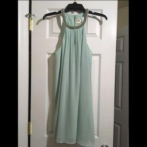 Mint Green Chiffon Formal Dress